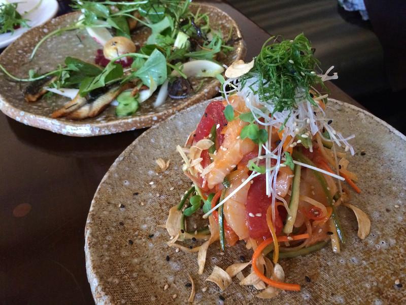 Sashimi Salad 'Chojang' Style / chef's choice sashimi / cucumber / radish / korean spicy sashimi sauce  18