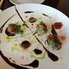 Ocean Umami / hokkaido scallop / ikura / sea urchin / ume plum / pickled wasabi leaf / nori seaweed ponzu  16