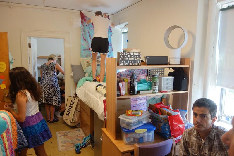Roommates unpacking