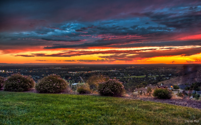 Sunset over Boise in HDR