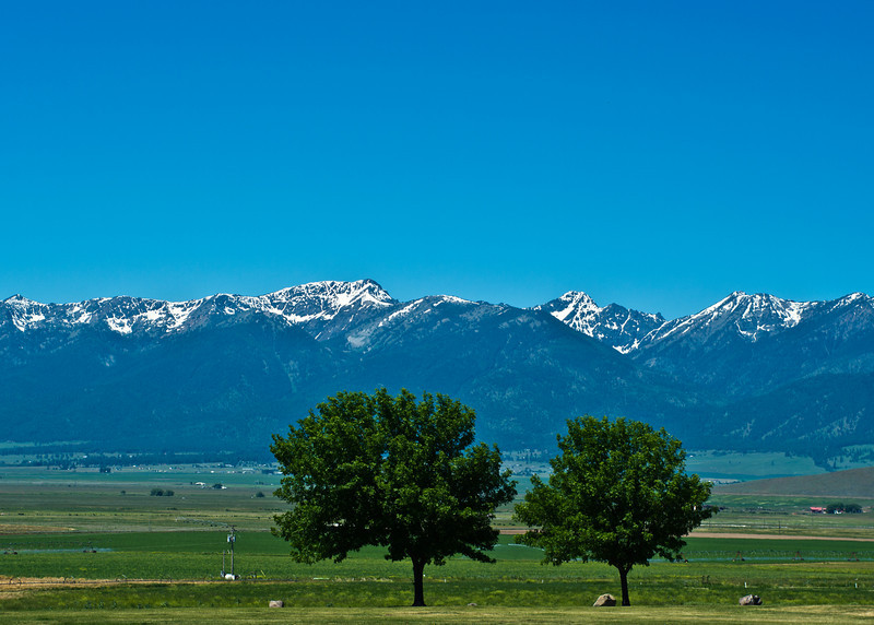Snapped on the way home from a rest area on I-84, not too far N. of Baker City, OR. Looking toward's the West.