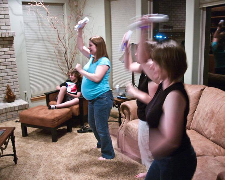 "Playing' ""Just Dance"" on the Wii"