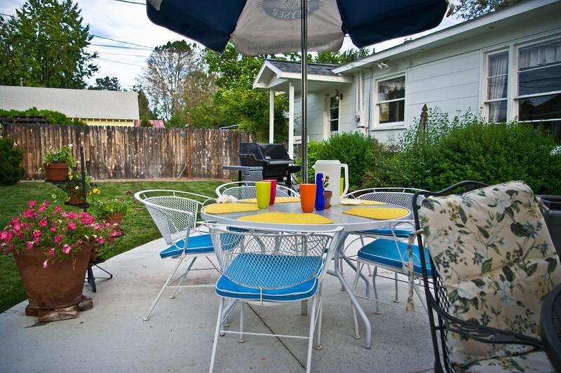 The Werbers' backyard in Emmett, ID.