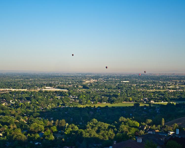 Balloons over Boise on Sunday morning