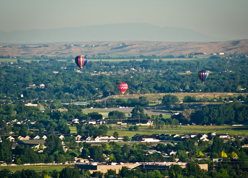 Balloons over Boise on Sunday morning
