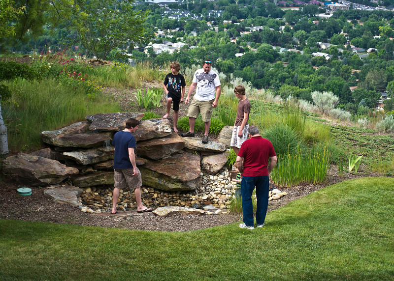 "Fixing the ""water feature"" at the house"