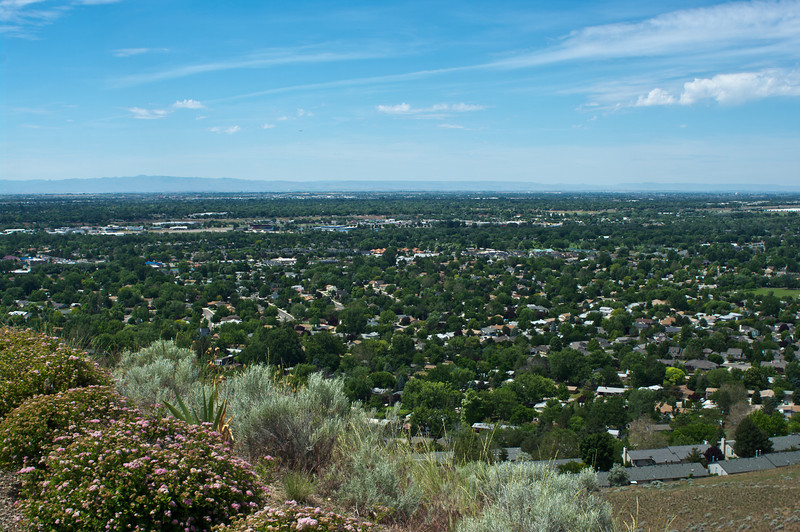 This is the view from the house we stayed at in Boise. It was really more impressive than this picture implies.