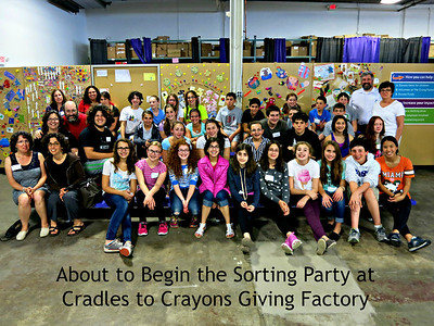 Ready to sort - at the Cradles to Crayons Giving Factory