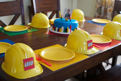 Complete With Lego Construction Hats Placemats