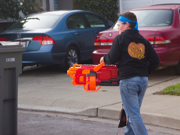 Tannon and his BFG (Battle time! Nicole's Nerf Battle Birthday Party)