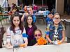 Team Blue (L to R: Yvette, Tannon, Krystal, Makayle, Christian, and Fabiola) (Battle part 2. Nicole's Nerf Battle Birthday Party)