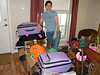 My second daughter with all of her stuff, soon to be off to college.