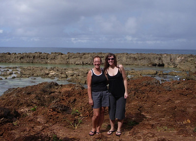 Mother and daughter at Sharks cove.  (Tauna's photo)