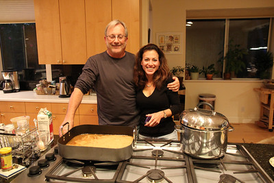 Jonathan and Debbie, preparing dinner.  NOTE►These photos look best if you maximize your browser window to full screen.