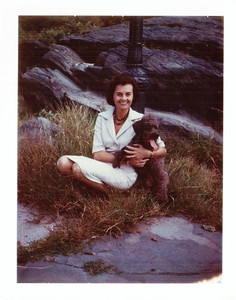 My mother and our dog Bon Bon, in Central Park in New York City. Hard to pin down the time - early 1960s, perhaps.