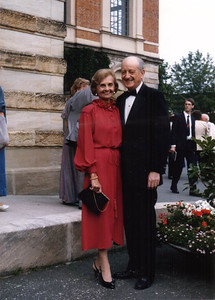 Mother and Dad in Bayreuth, Germany, at the Wagner Festival. Hard to date this - late 1970s or early 1980s.