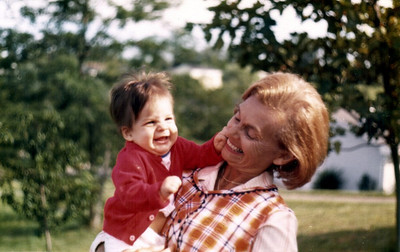Mother and 'Little Benjy,' around 1976