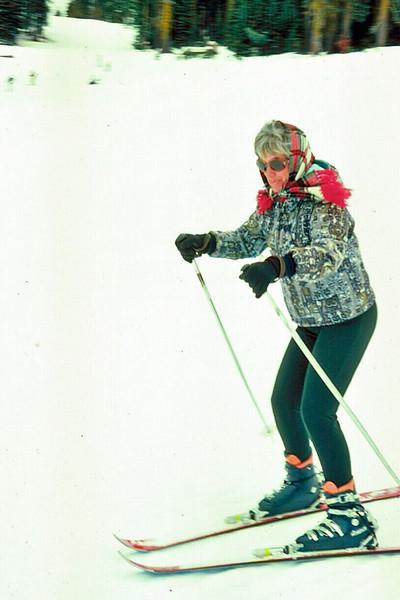 1970s Mary Ann Skiing in Yosemite