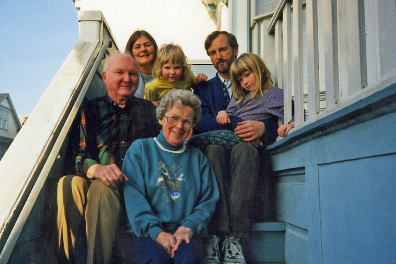 1997 David-Vicki-Emily-Katie-Jim-MaryAnn at Winfield St SF