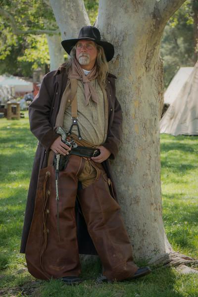 Western reenactor at the Santa Clarita Cowboy Festival