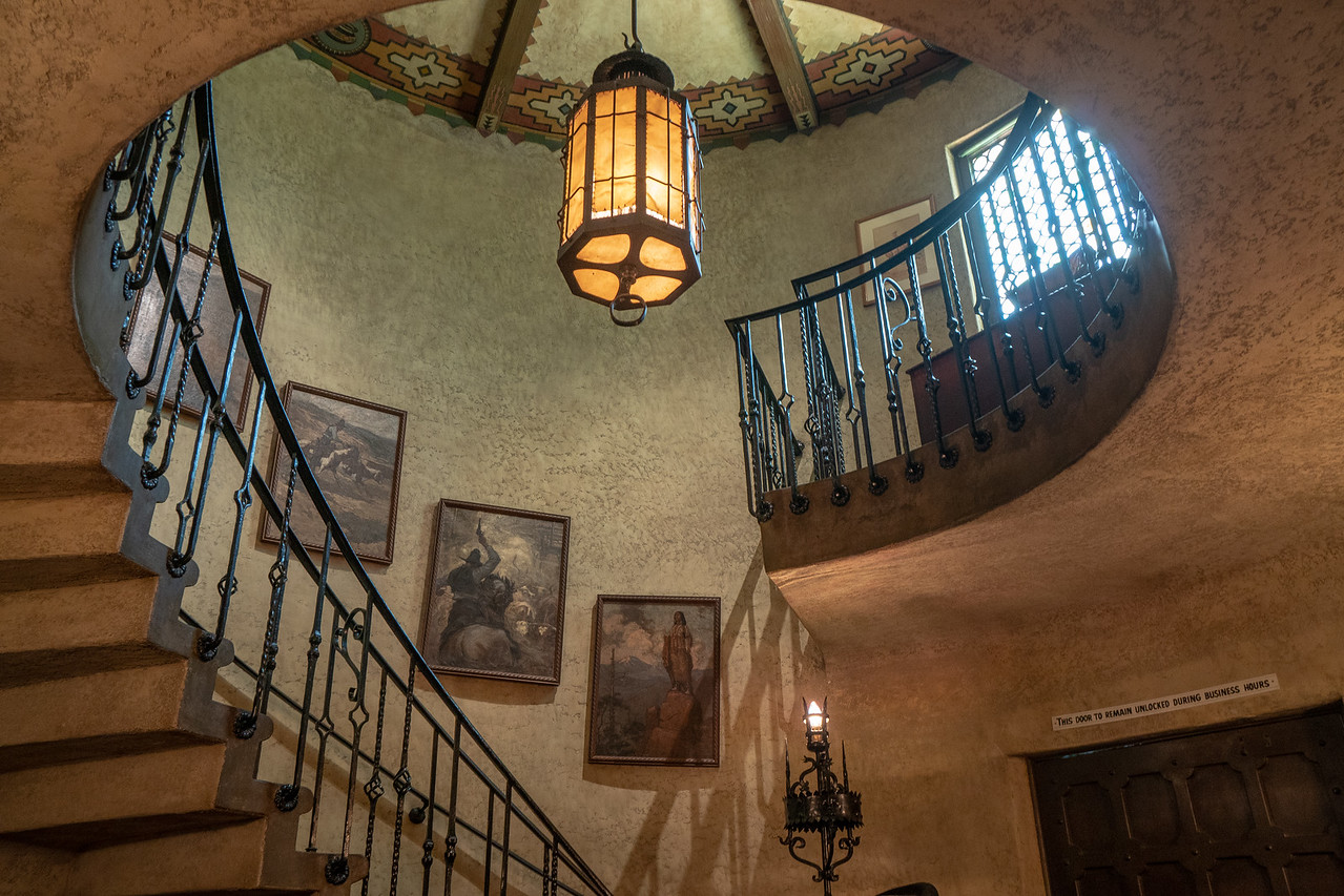 Entrance hall to the William S. Hart Museum