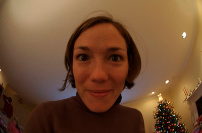 Rose, self-portrait w/ fish-eye lens