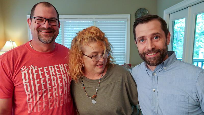 Erin with Jeremy & Adam