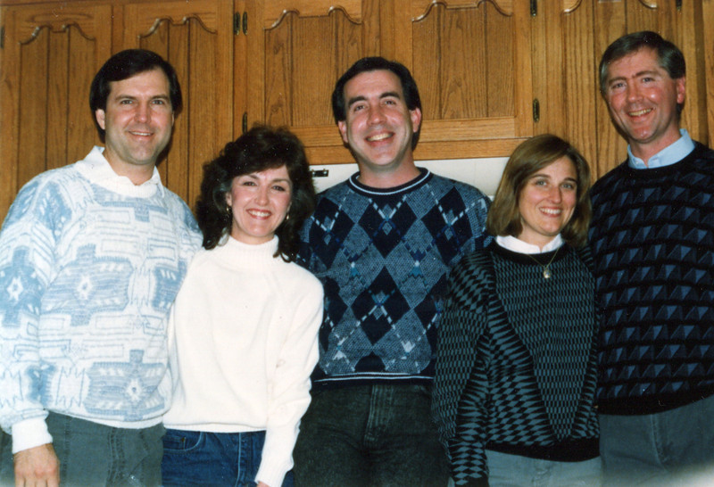 From Left: Terry, Janie, Dave, Janet and Doug - 1990
