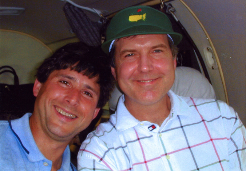 Scott Dorfman and Terry - Going to the Masters - 2001