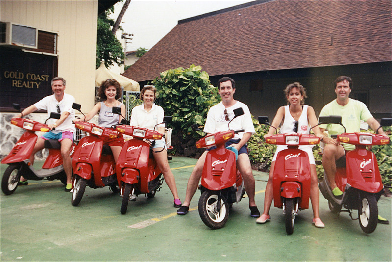 From Left: Doug Springfield, Janie Yarbrough, Janet Springfield, Dave Hand, Jody Hand and Terry Yarbrough<br /> Hawaii - 1991