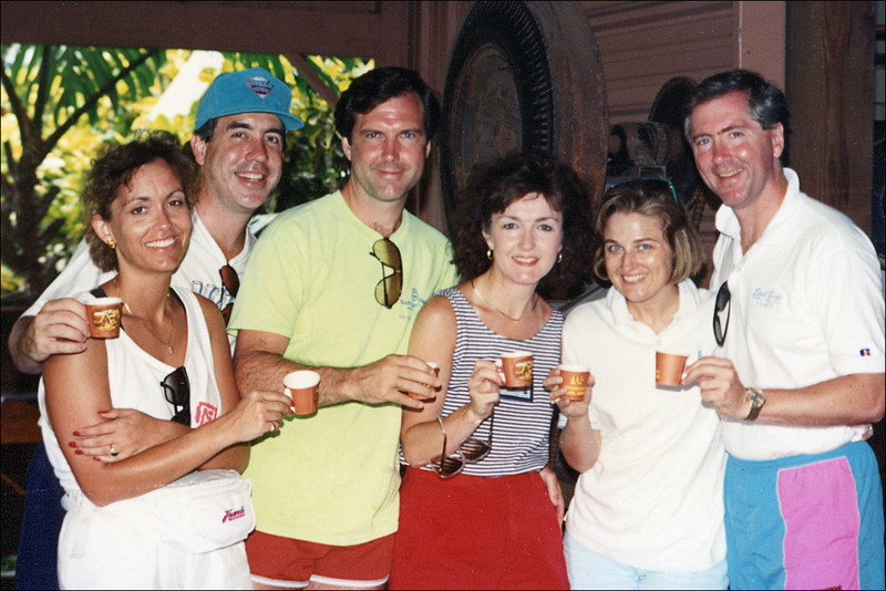 From Left: Jody Hand, Dave Hand, Terry Yarbrough, Janie Yarbrough, Janet Springfield and Doug Springfield<br /> Hawaii - 1991