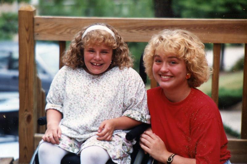 Jill and Erin - 1991