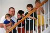 Nelson with the boys - Atlanta, GA: 1999