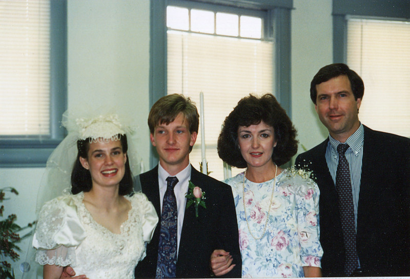 The Wedding<br /> From left:  Ann, Nelson, Janie and Terry