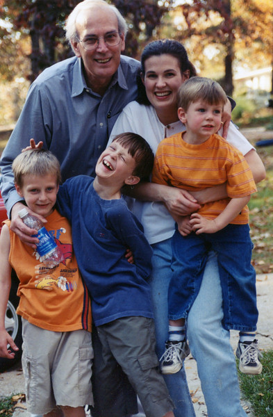 Tom Pop with Ann and the boys - 2001