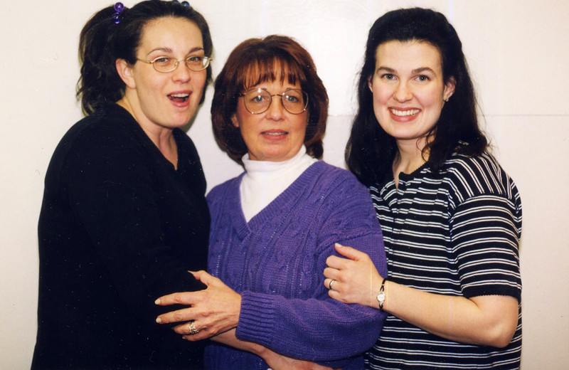 Ann with Judy and Kris<br /> January 2000