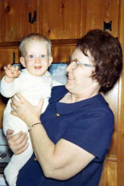 Nelson Grice with Grandmother Hester Gregory (Swann)