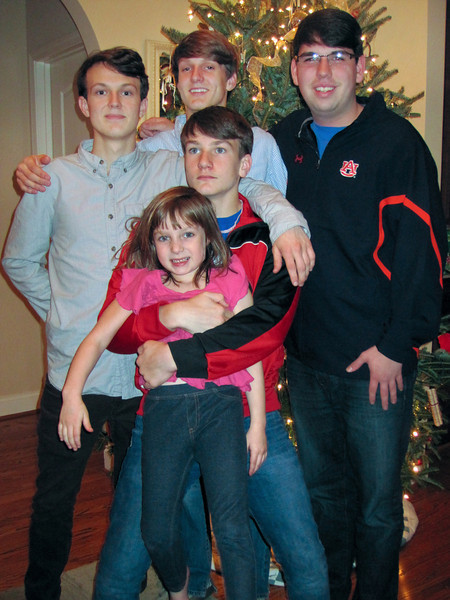 The Grice boys and JC<br /> Christmas 2011