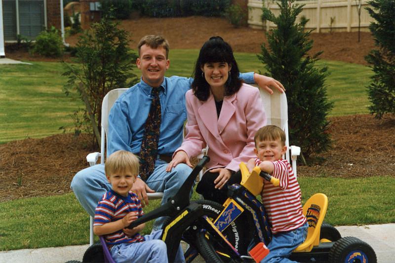 Nelson, Ann, Seth and Jonah - Atlanta, GA - 1997