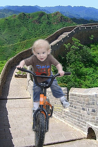 Clate riding Great Wall in China 2