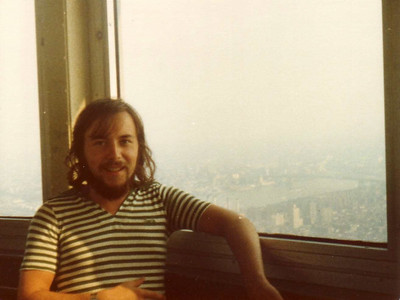 DPB-239: David Prescott Barr during the trip to USA in summer 1976. Here on the observation platform at the Empire State Buildings, New York