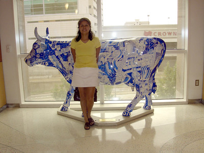 This is one of the famous Houston cows located on the 3rd floor of the Houston's Children's Hospital.