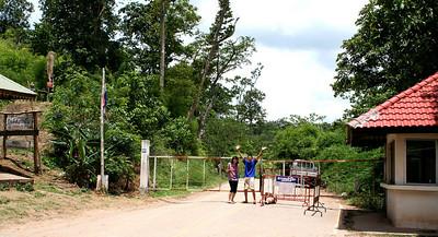 Thai-Lao border checkpoint at Ban Phudu (บ้านภูดู่)