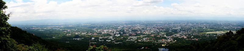 Chiang Mai from Doi Suthep August 2, 2009 (Panorama via Adobe Photoshop CS4 Extended)