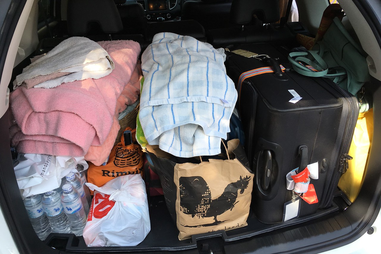 Honda packed for trip from Chiang Mai to Uttaradit