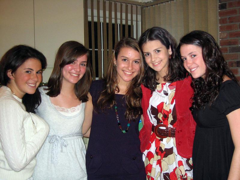 Amanda, Elyssa, Rachel, Samantha, Meredith