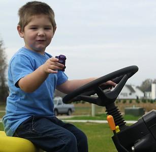 Jackson on tractor
