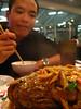 Having fish at China Gourmet (???).