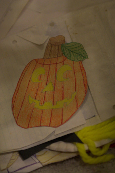 I made this pumpkin in grade school...I think in the 4th grade?