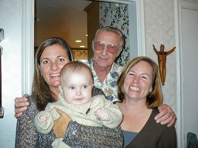 Uncle Jim and his girls -- Heidi, Kimberly, & Emily